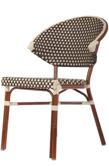 Woven Nylon Commercial Outdoor Bistro Chair - Commercial outdoor bistro table and chairs