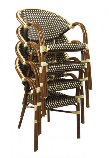 Woven Nylon Commercial Outdoor Bistro Chair (+) Larger Image