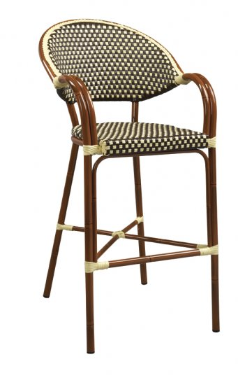 Cool Woven Nylon Commercial Outdoor Bistro Bar Stool 915 Theyellowbook Wood Chair Design Ideas Theyellowbookinfo
